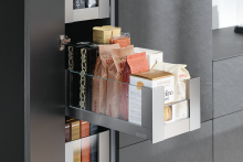Access valuable space with the 300mm Space Tower slim from Blum